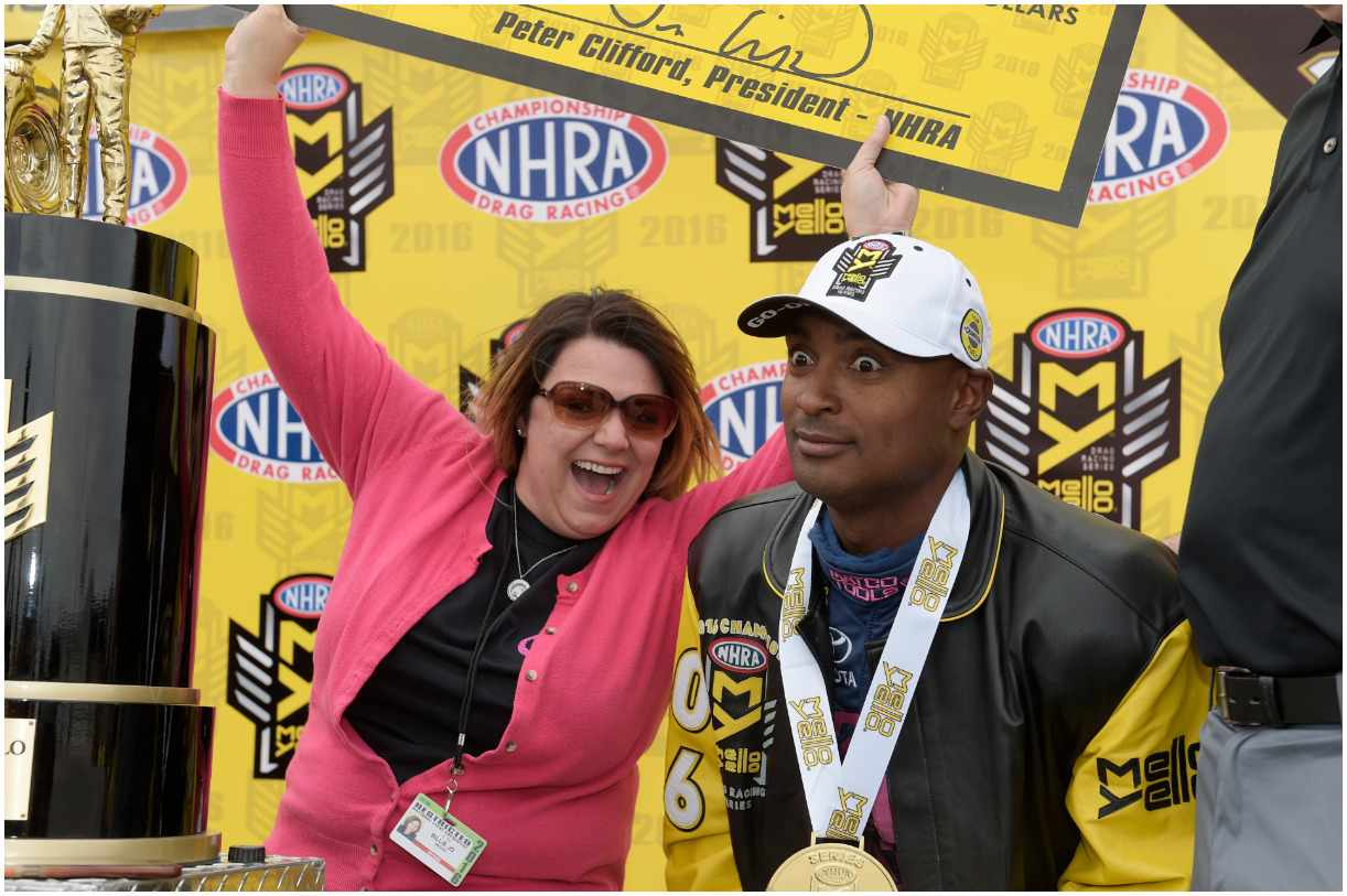 Antron Brown with his wife Billie Jo