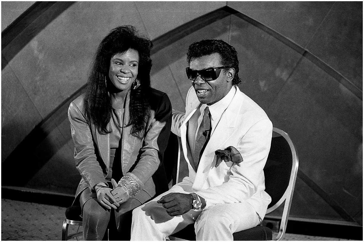 Angela Winbush with her ex husband Ronald Isley