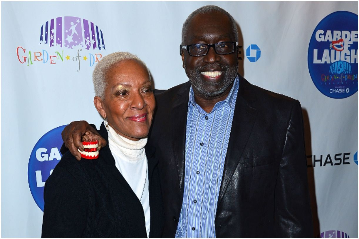 Earl Monroe with his wife Marita Green