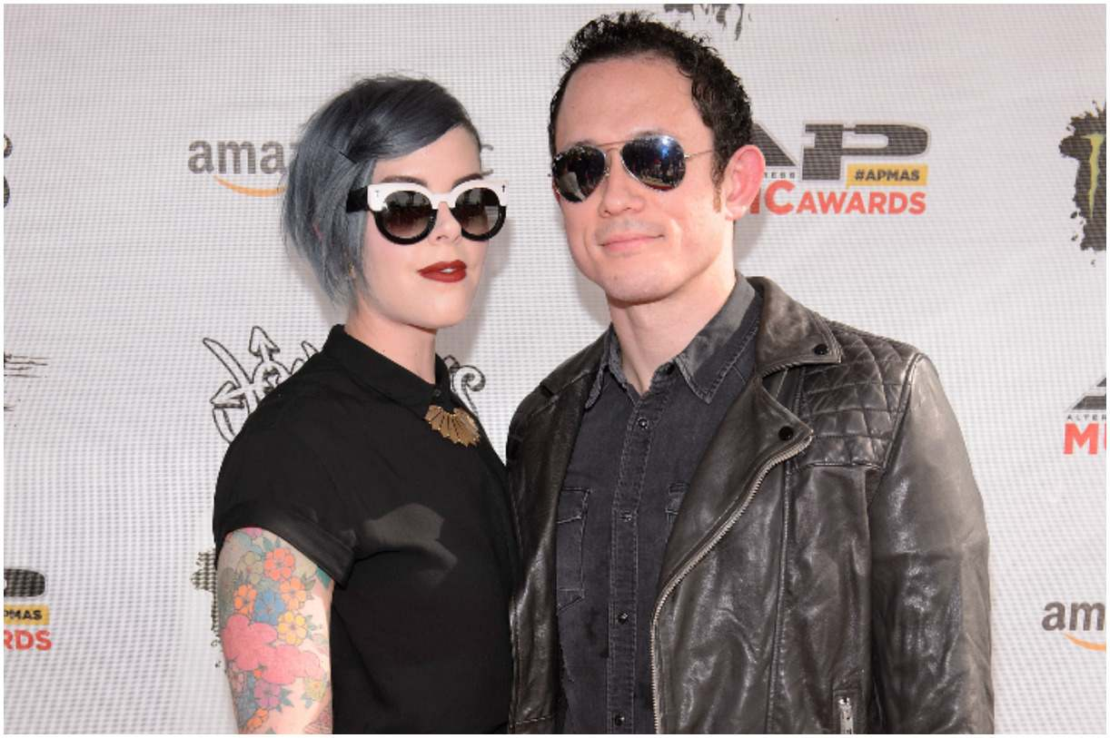 Matt Heafy with his wife Ashley Heafy