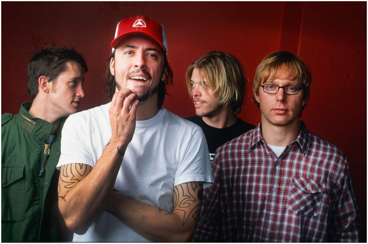 Nate Mendel with his band Foo Fighters
