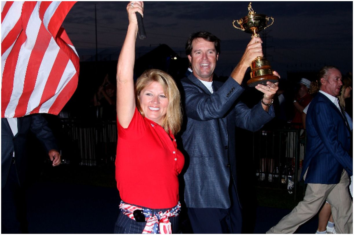 Paul Azinger with his wife Toni Azinger