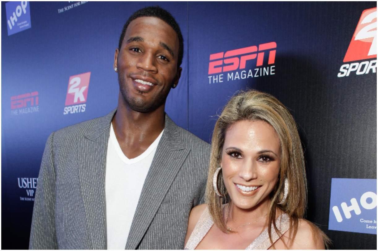 Kareem Rush and his girlfriend Bonnie-Jill Laflin