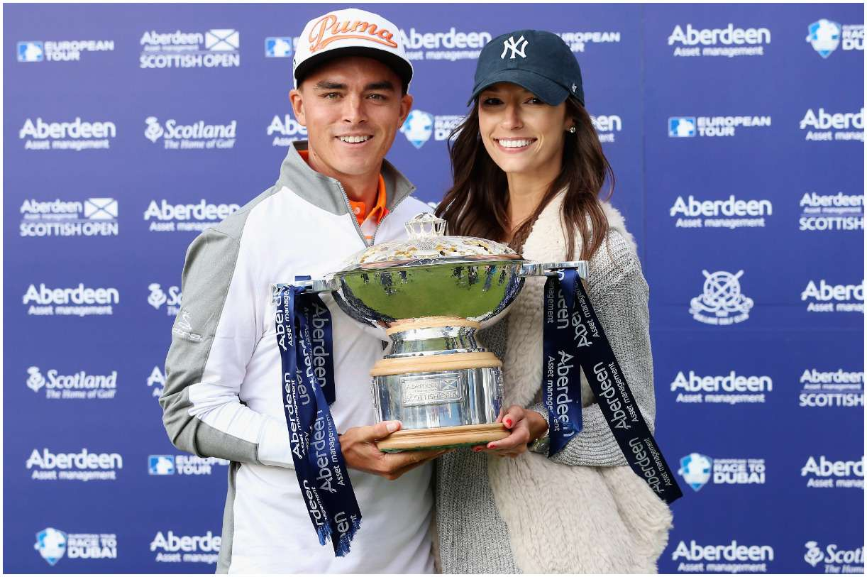 Rickie Fowler and his girlfriend Alexis Randock