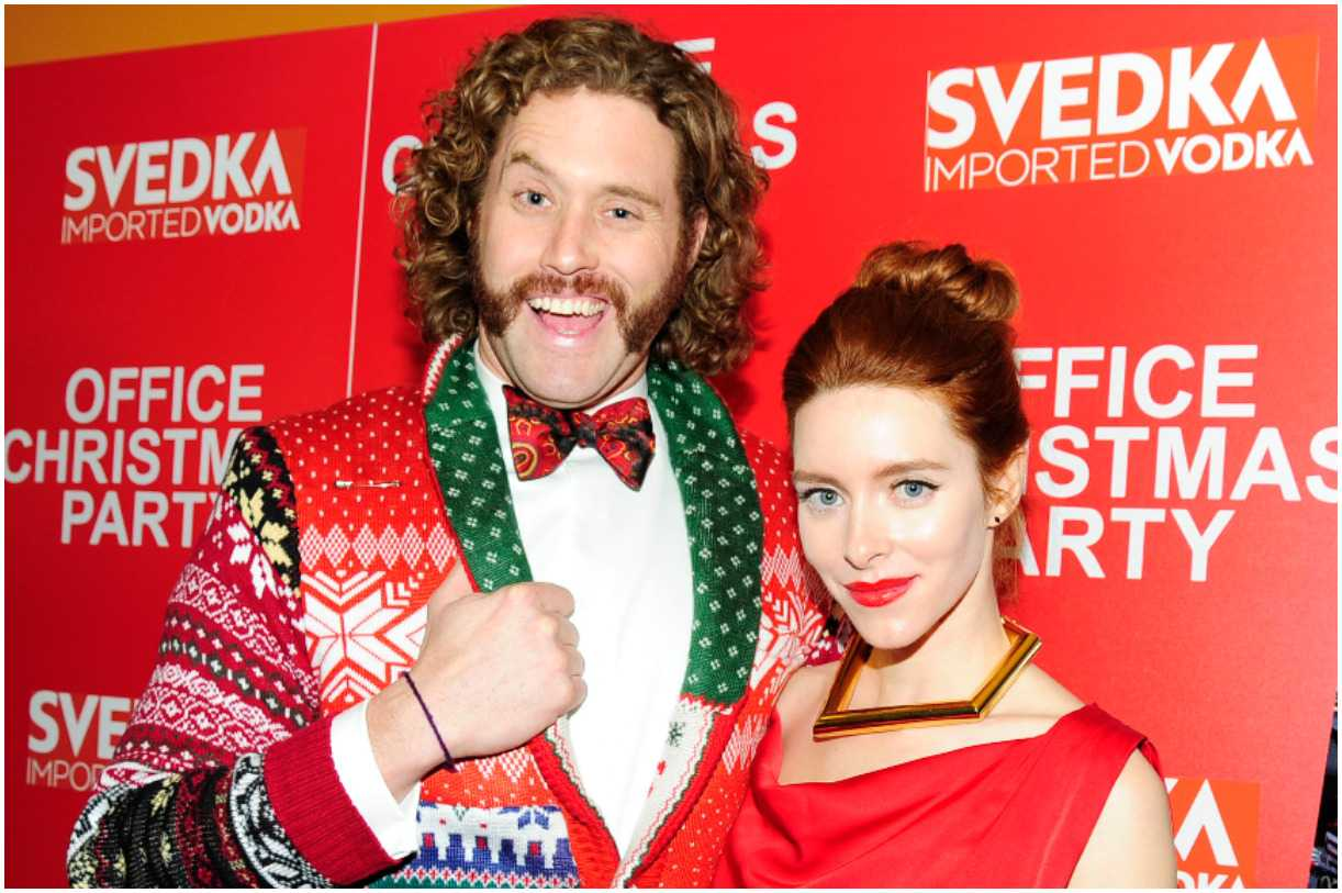 T.J. Miller and his wife Kate Gorney
