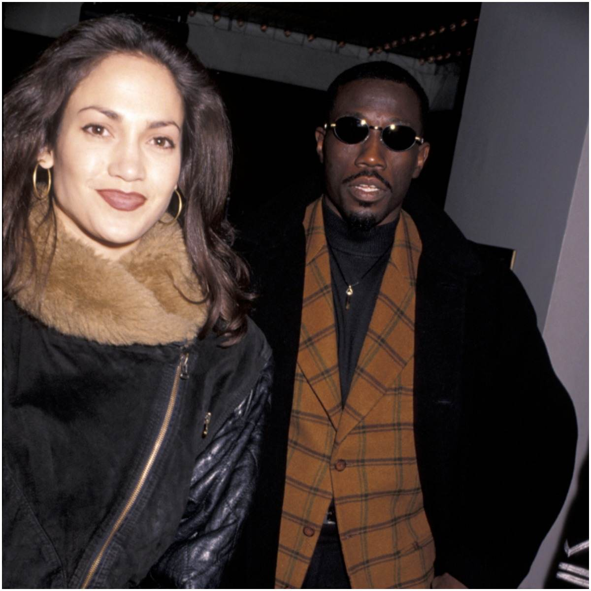 Wesley Snipes with his girlfriend Jennifer Lopez
