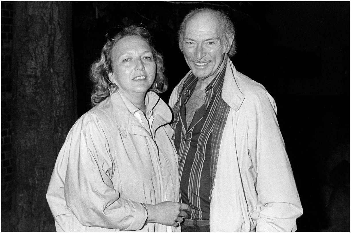 Lee Van Cleef and his wife Barbara Havelone