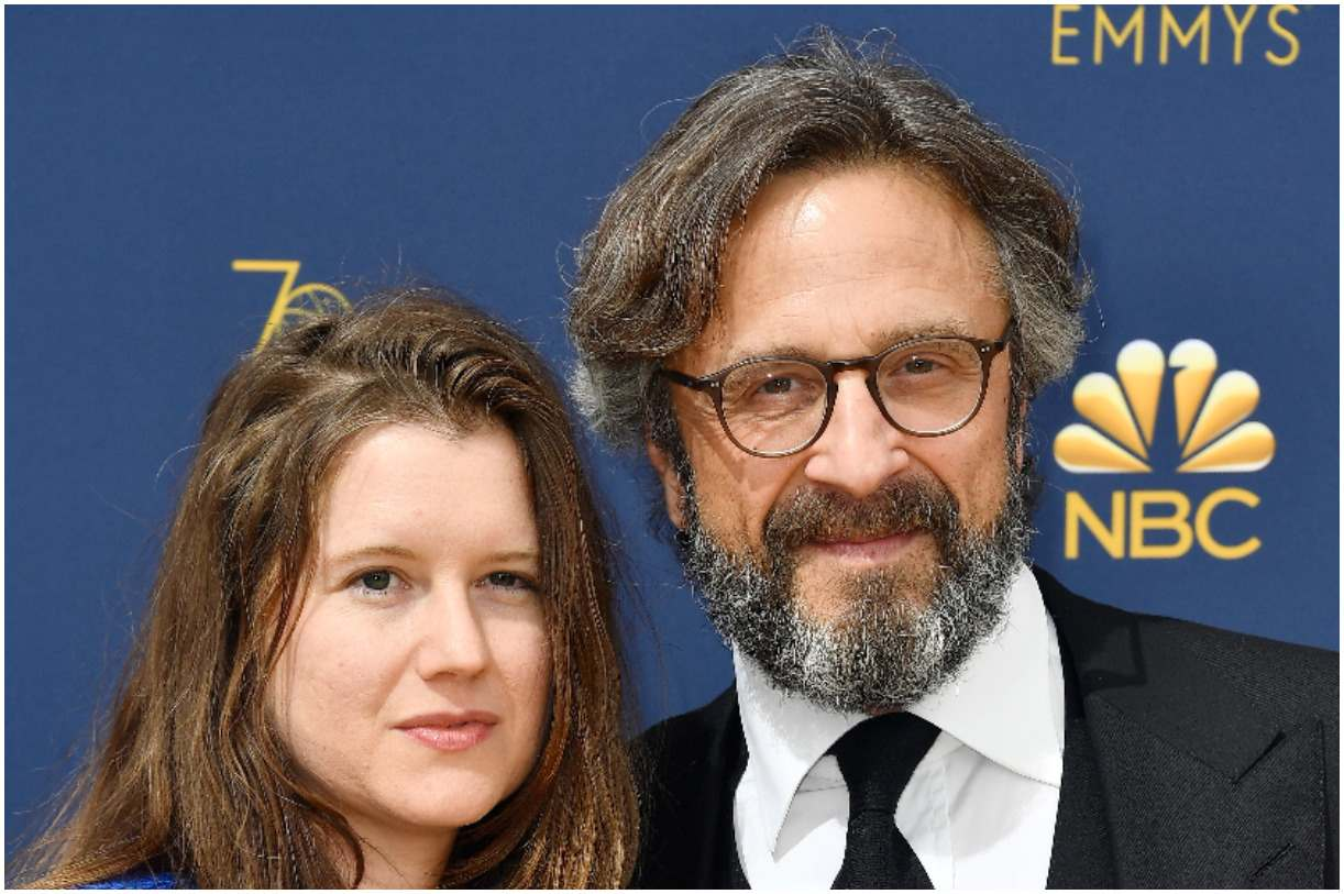 Marc Maron and his girlfriend Sarah Cain