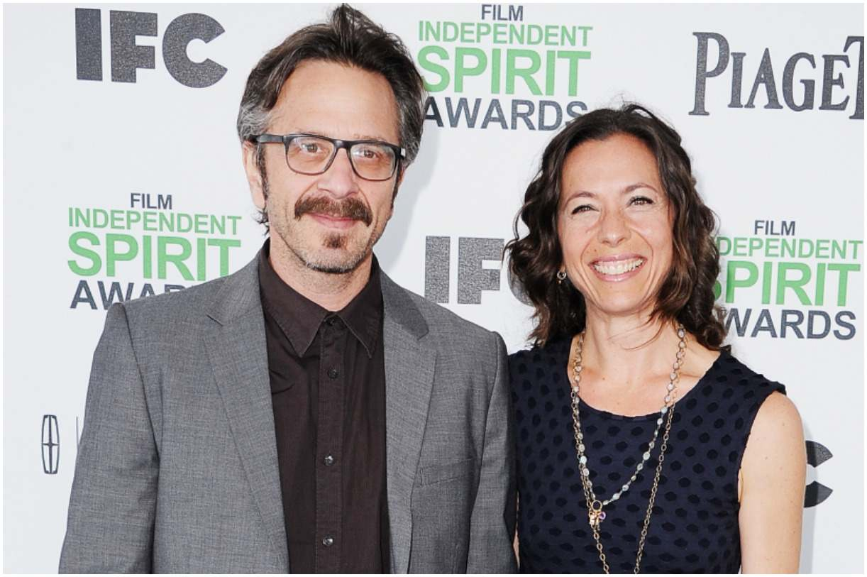 Marc Maron with his ex-girlfriend Moon Zappa
