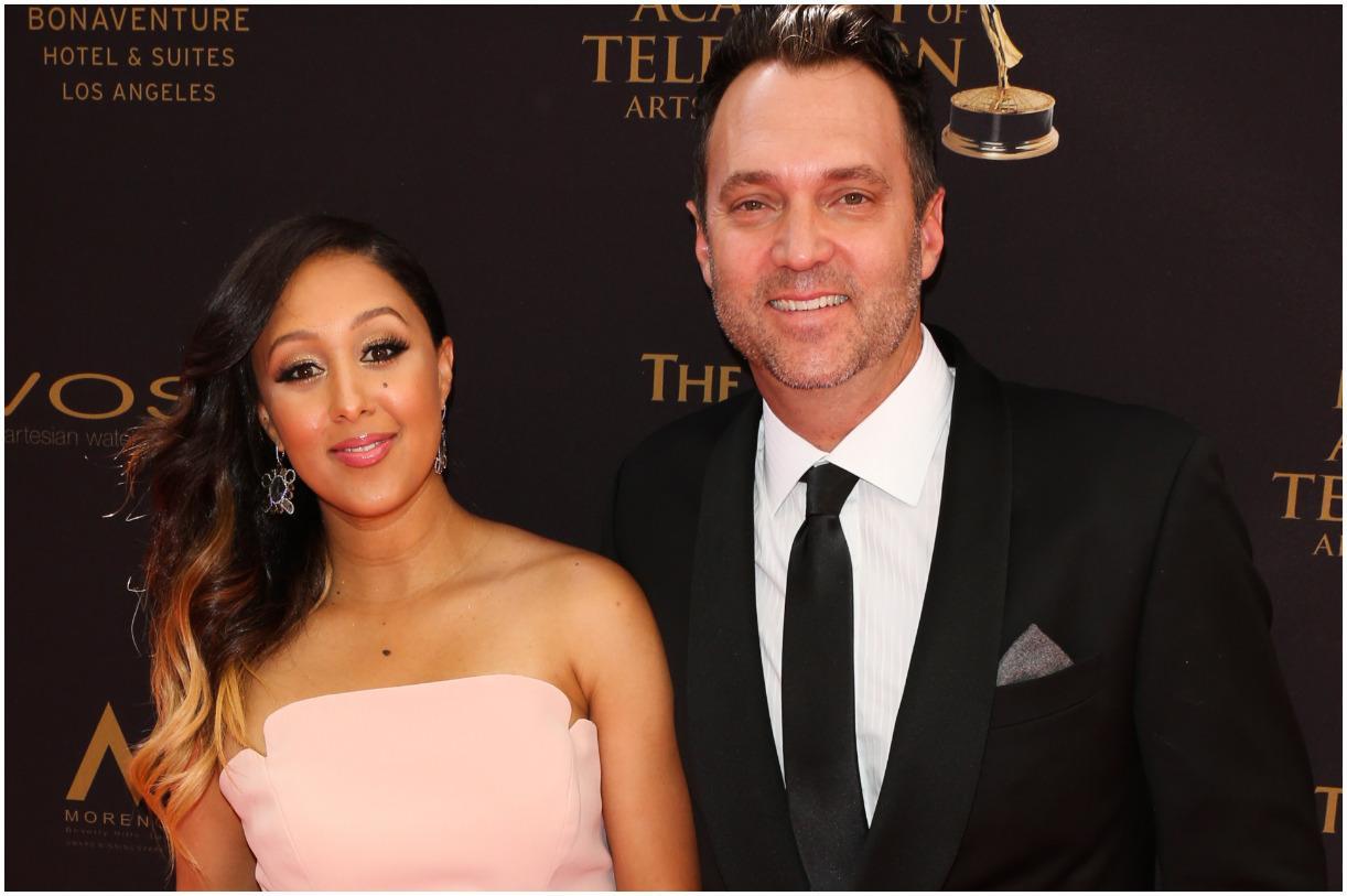 Tamera Mowry and her husband Adam Housley