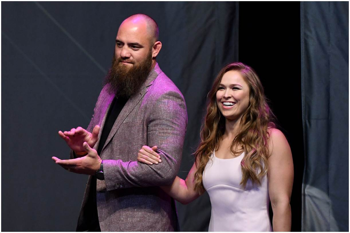 Travis Browne and his wife Ronda Rousey