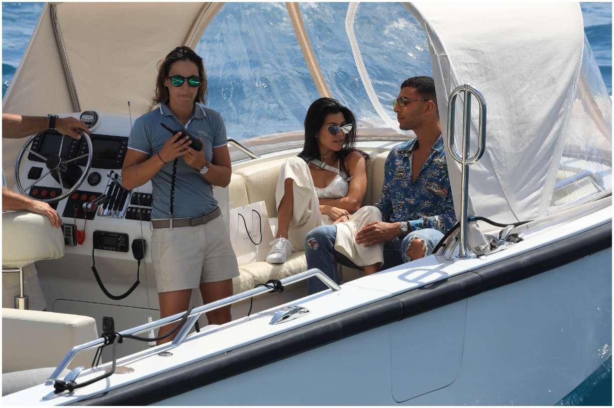 Younes Bendjima and his girlfriend Kourtney Kardashian