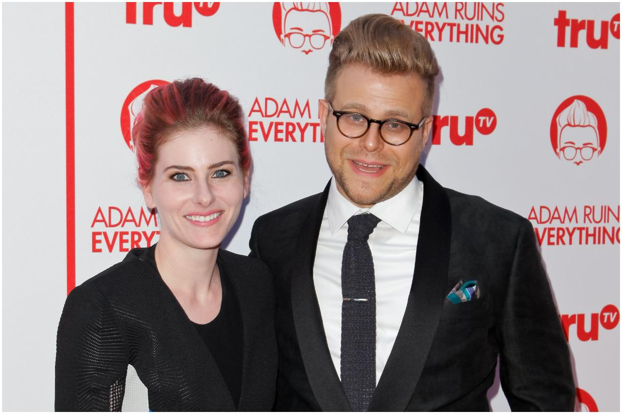 Adam Conover and his girlfriend Lisa Hanawalt