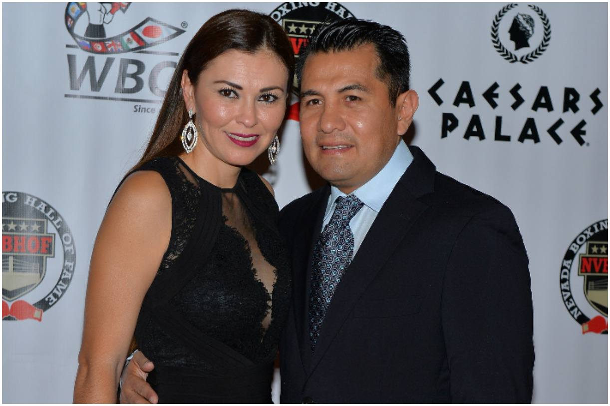 Marco Antonio Barrera and is wife Sandra Barrera