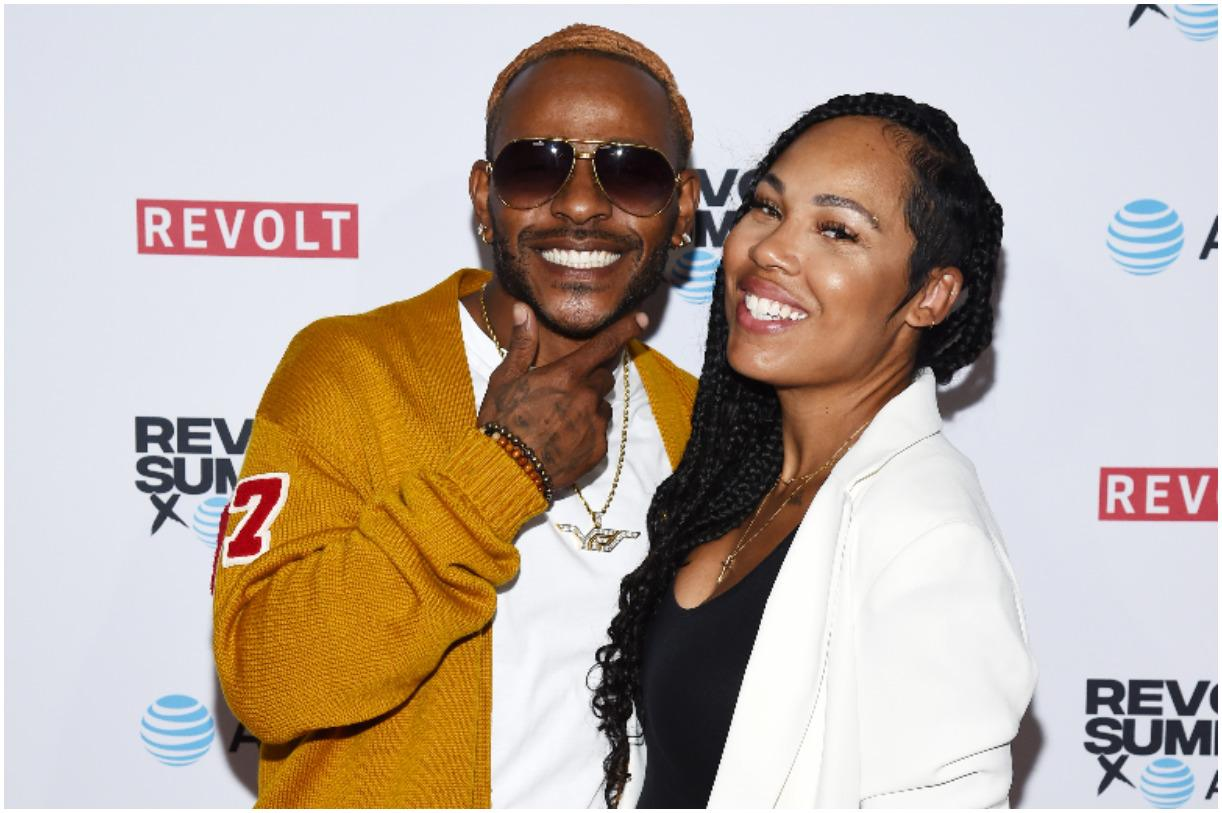 Eric Bellinger and his wife La'Myia Good