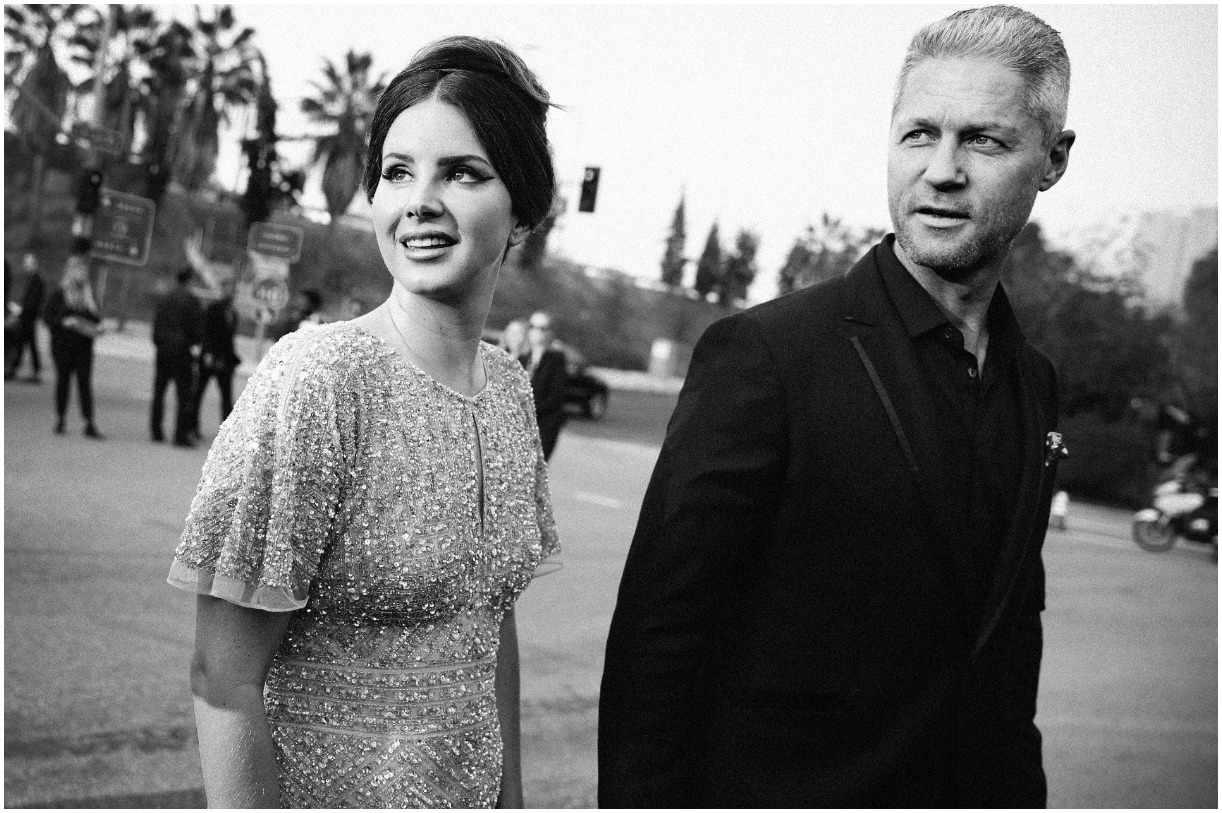 Lana Del Rey with her boyfriend Sean Larkin