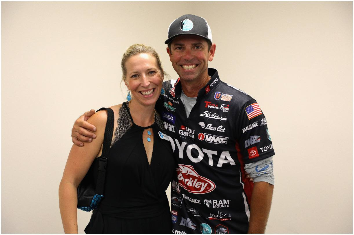 Mike Iaconelli and his wife Rebecca Iaconelli