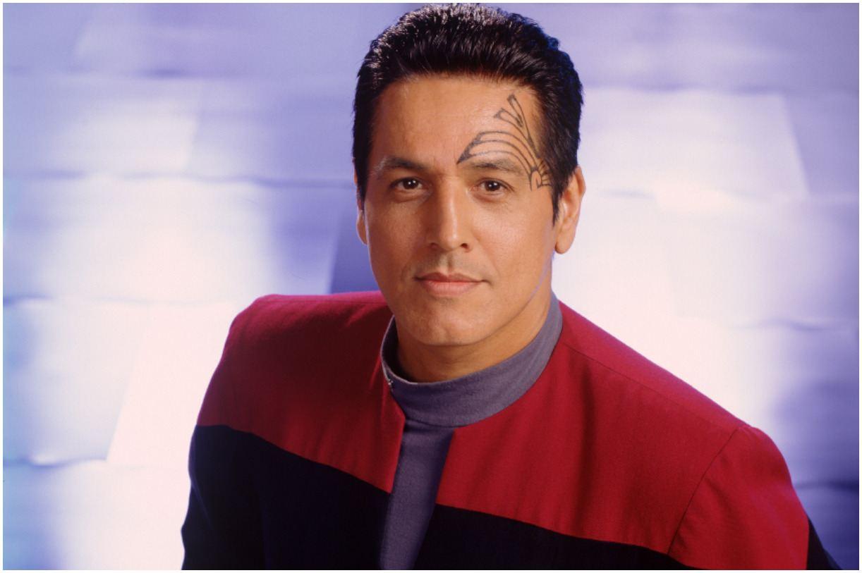 Robert Beltran as First Officer Chakotay in Star Trek