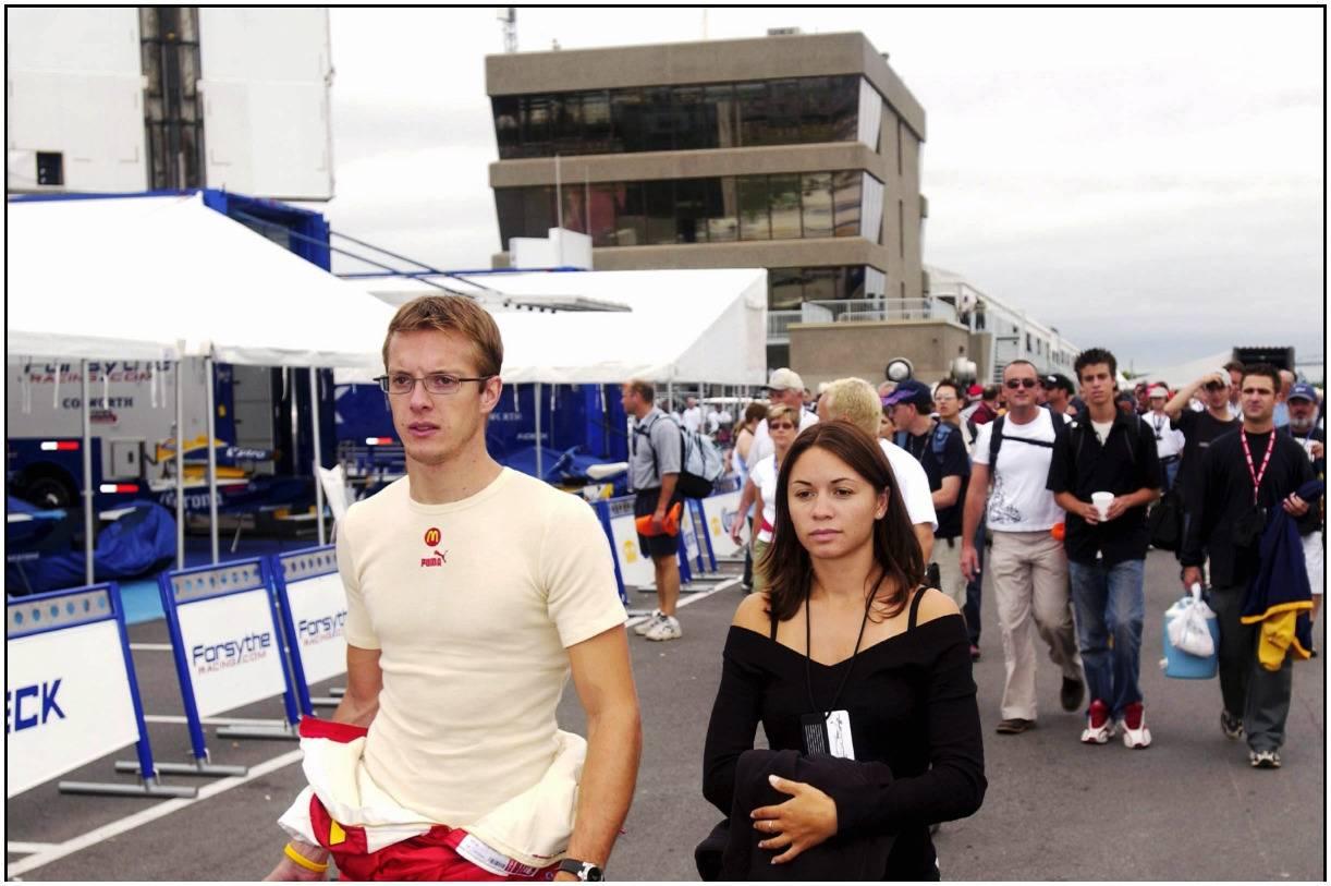 Sébastien Bourdais and his wife Claire Ragot