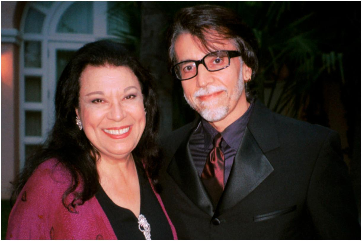 Shelley Morrison and her husband Walter Dominguez