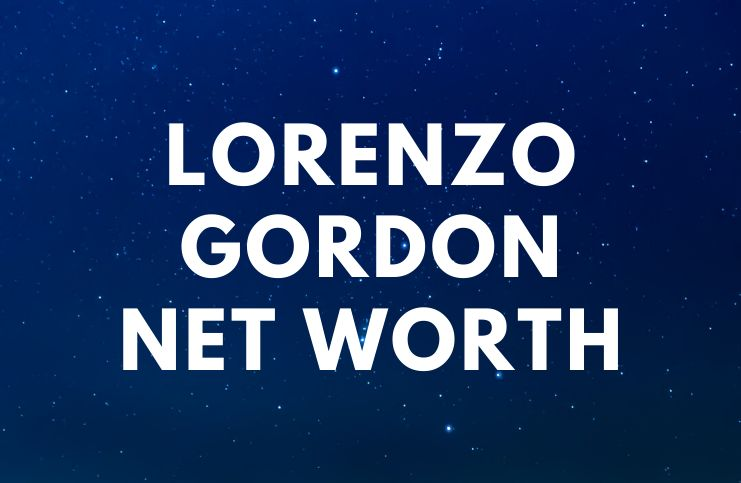 Lorenzo Gordon - Net Worth, Salary, Wife, Affair, Biography age
