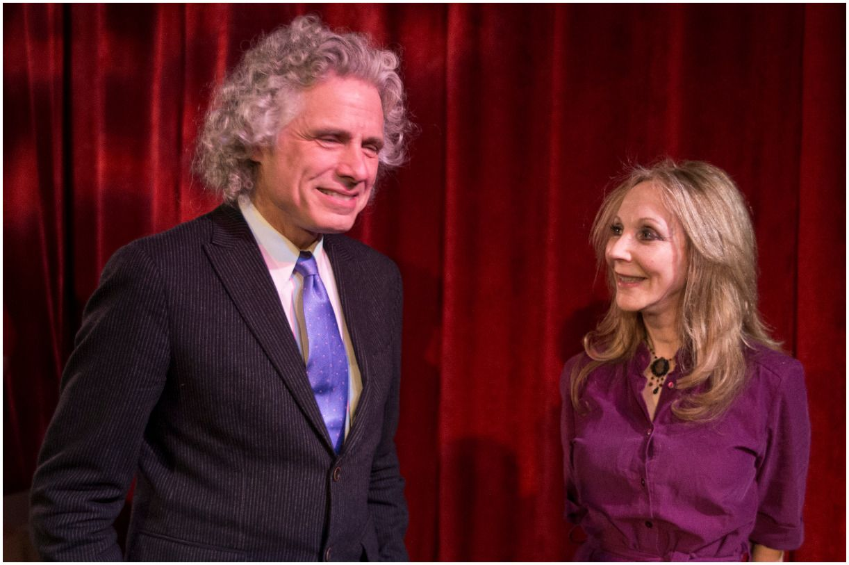 Steven Pinker and his wife Rebecca Newberger Goldstein