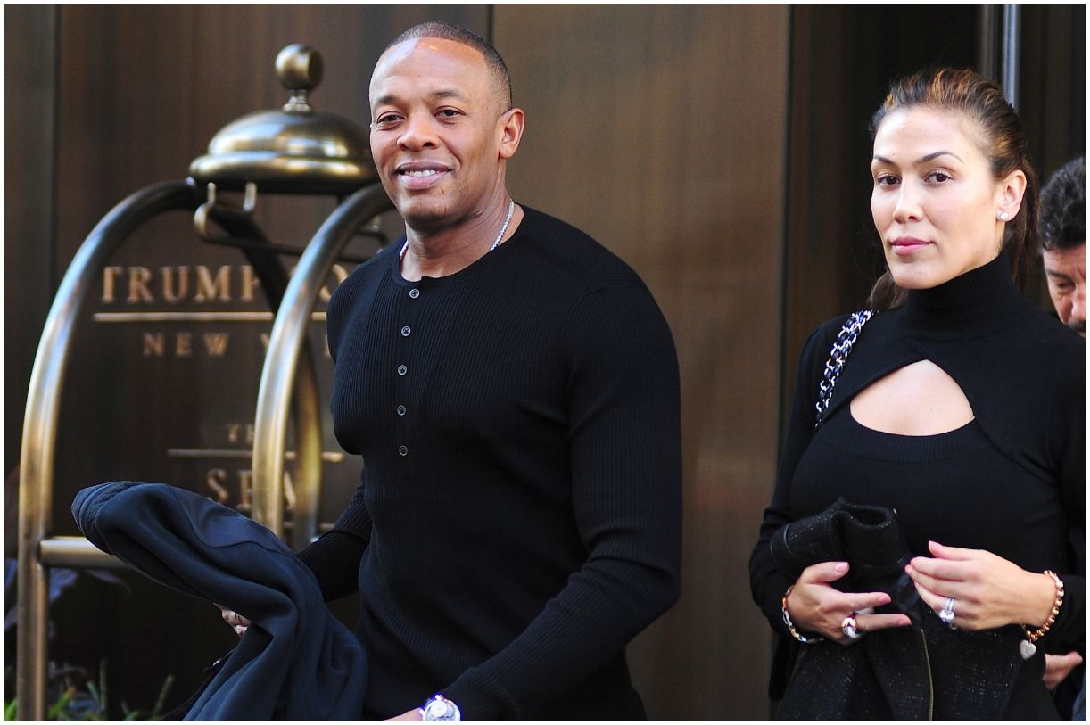 Dr. Dre with his wife Nicole Threatt