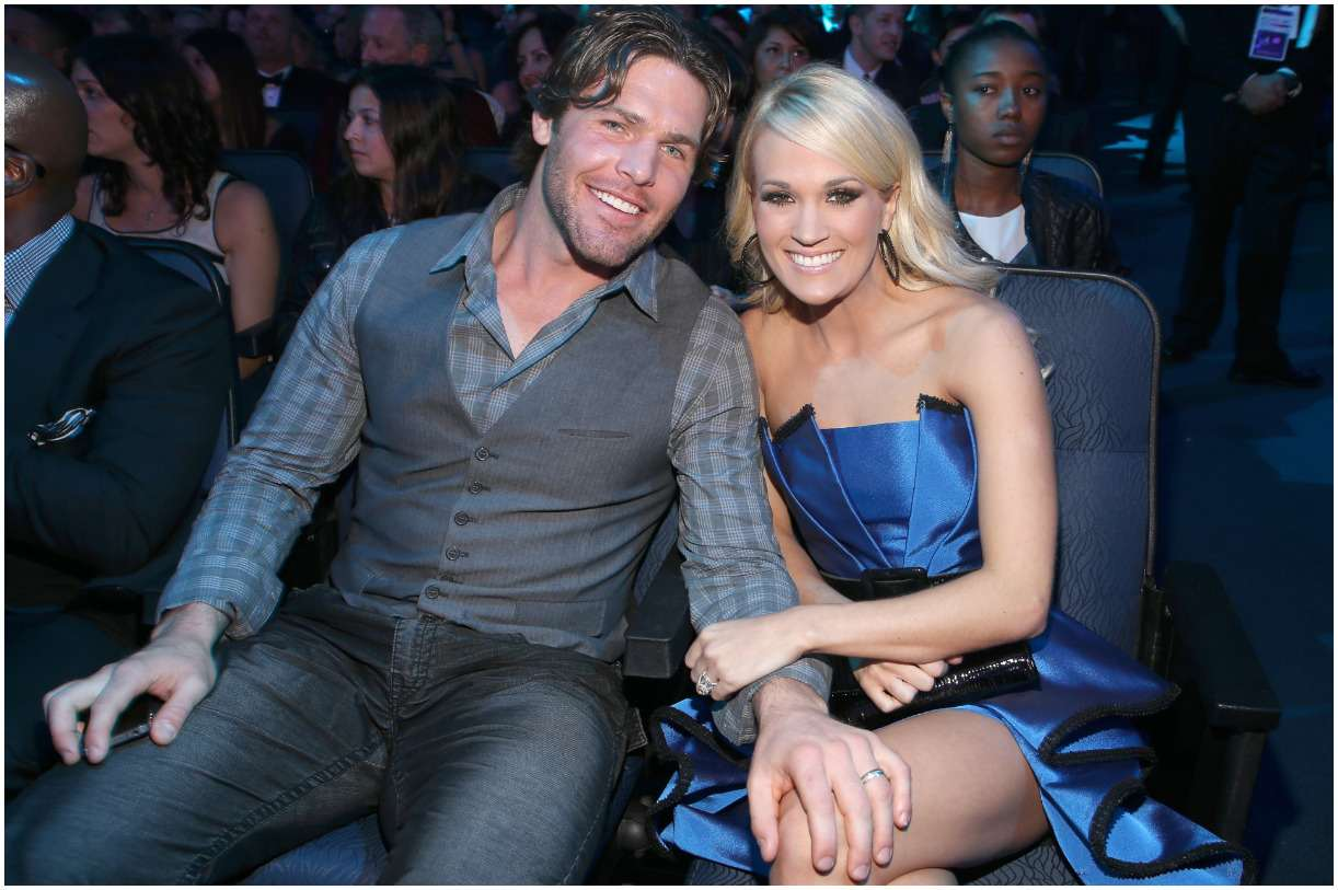 Mike Fisher and his wife Carrie Underwood