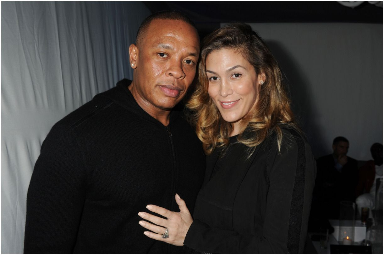 Nicole Threatt with her husband Dr. Dre