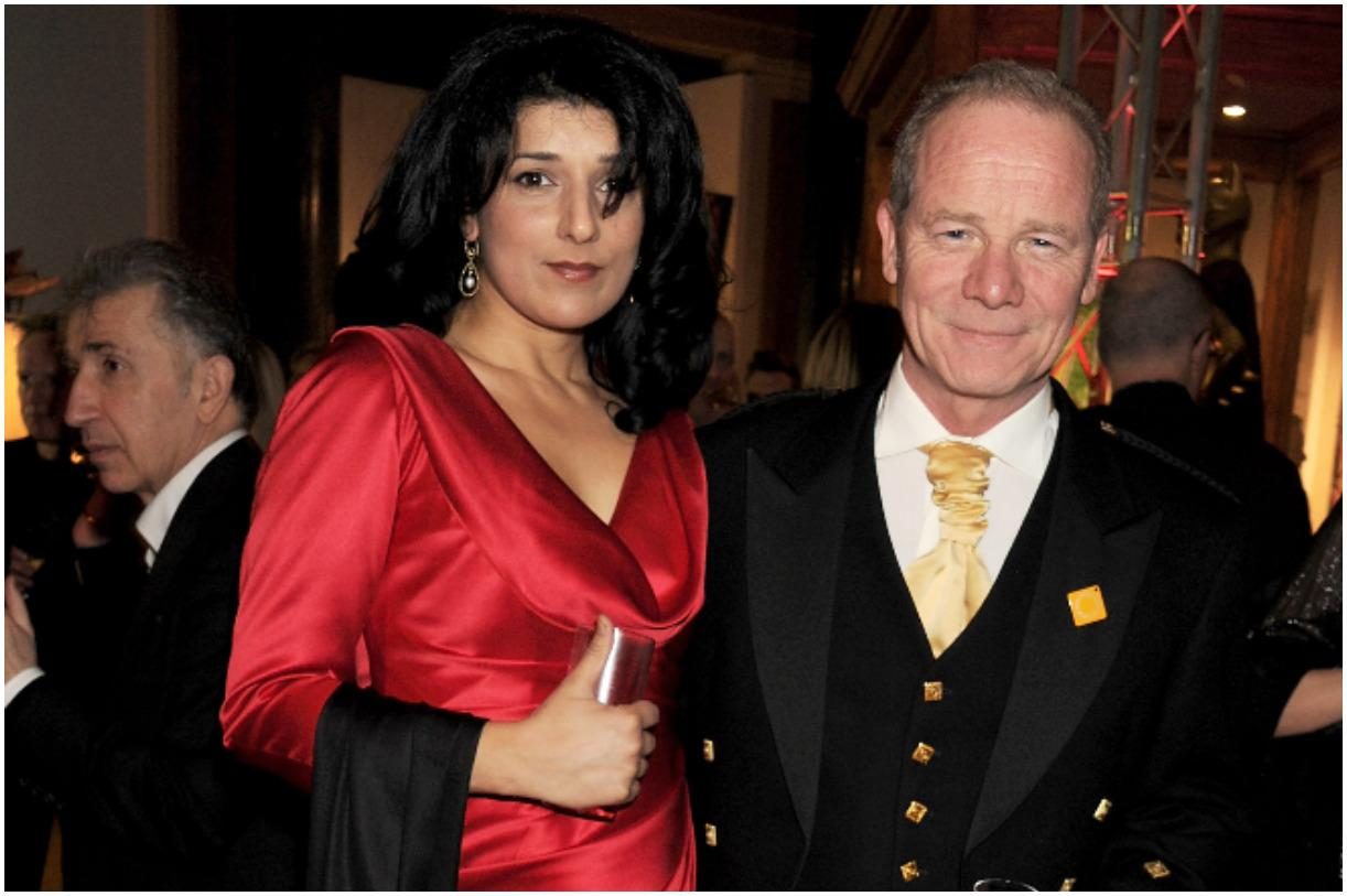 Peter Mullan and his wife Robina Qureshi