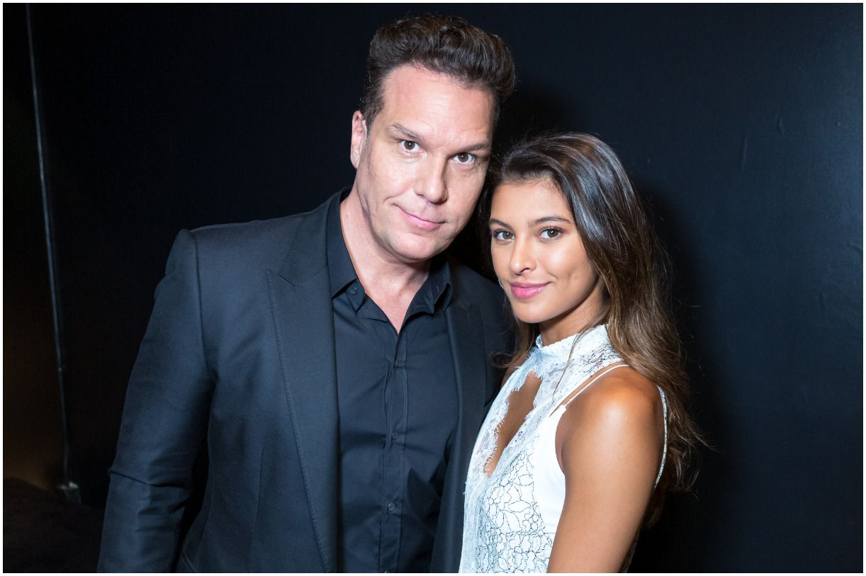 Dane Cook with his girlfriend Kelsi Taylor