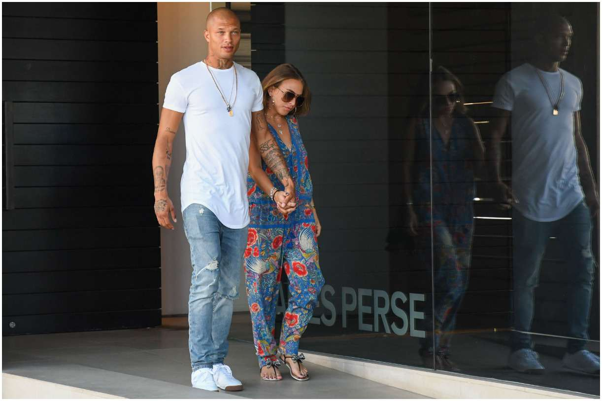 Jeremy Meeks with his girlfriend Chloe Green