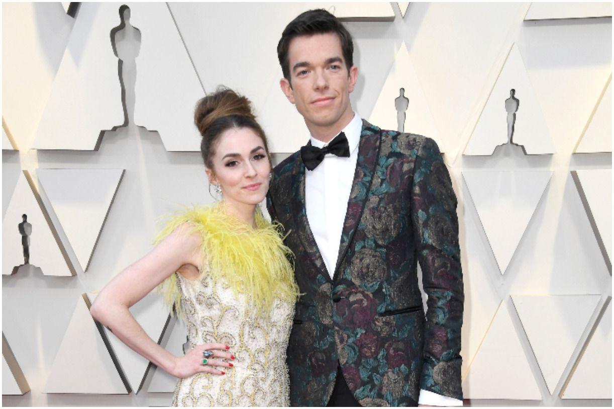 John Mulaney with his wife Annamarie Tendler