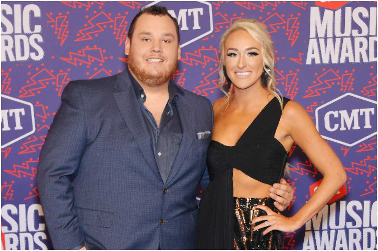 Luke Combs and his fiancee Nicole Hocking