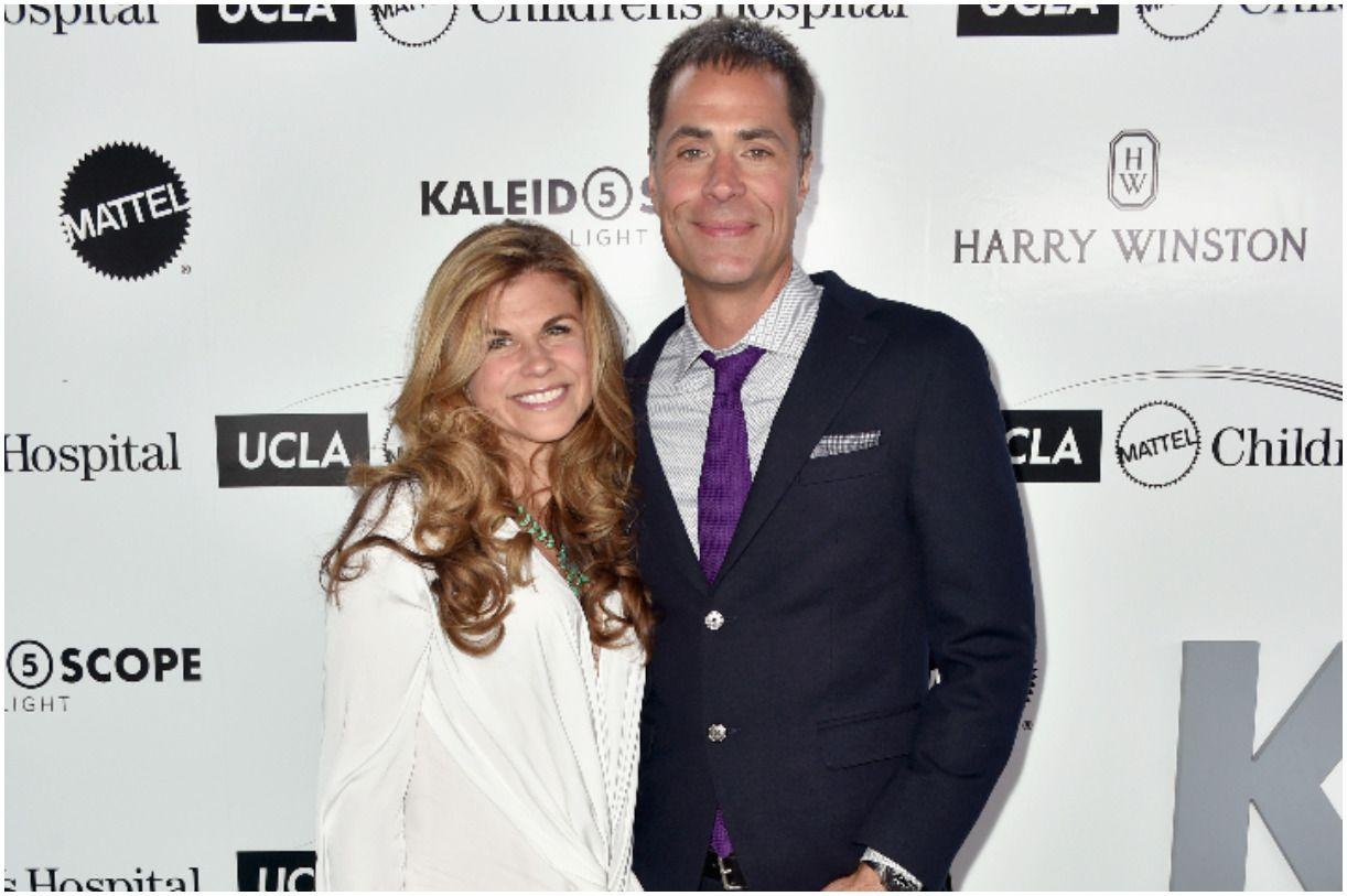 Rob Pelinka with his wife Kristin Pelinka