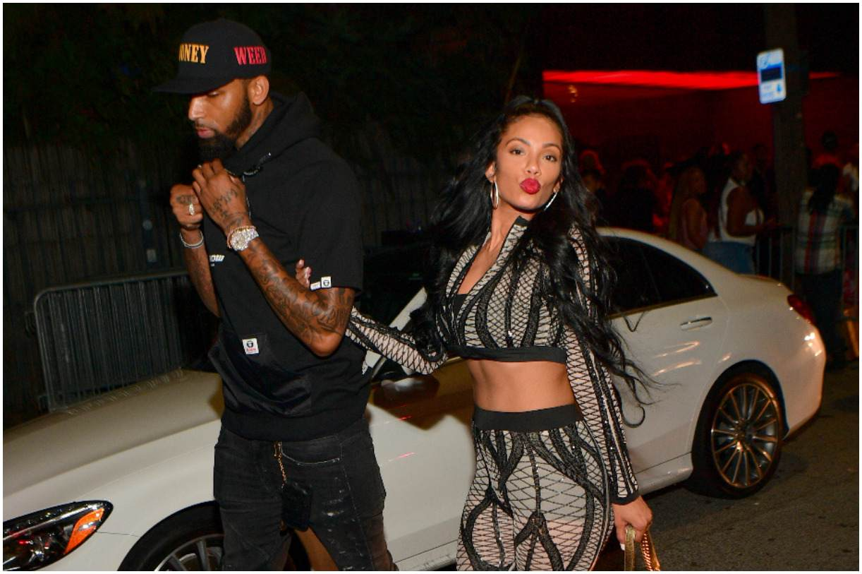Cliff Dixon with his girlfriend Erica Mena