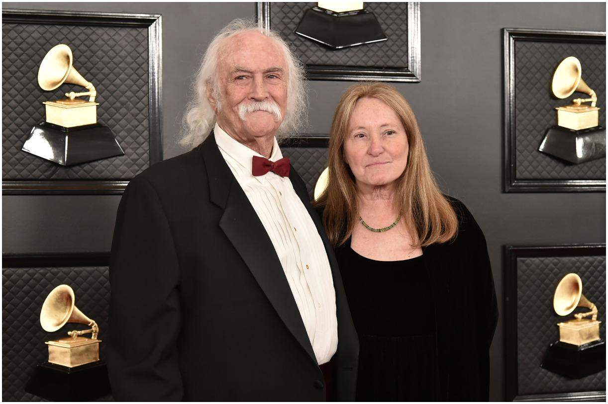 David Crosby and his wife Jan Dance