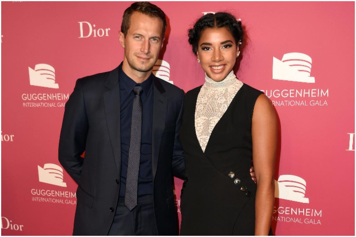 Hannah Bronfman with her fiance Brendan Fallis