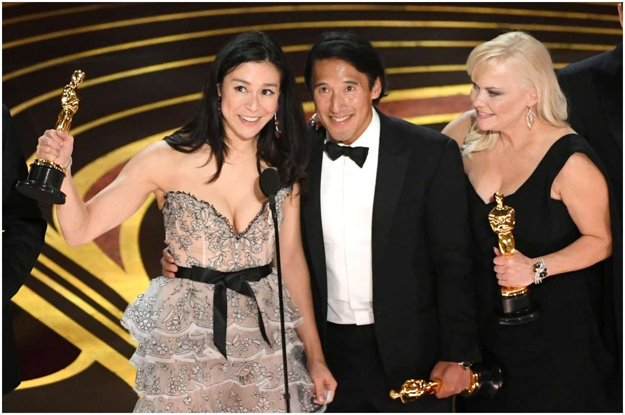 Jimmy Chin with his wife Elizabeth Chai Vasarhelyi