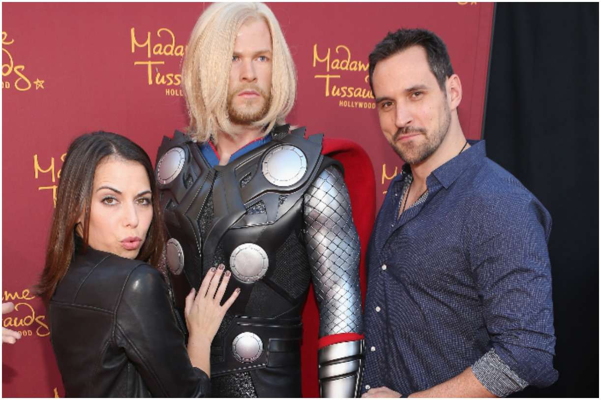 Laura Bailey with her husband Travis Willingham