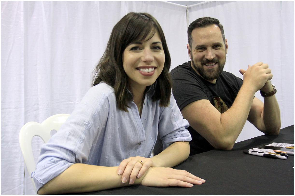 Travis Willingham with his wife Laura Bailey