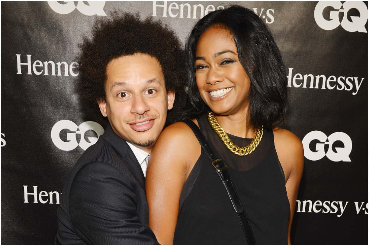 Eric Andre and his girlfriend Tatyana Ali