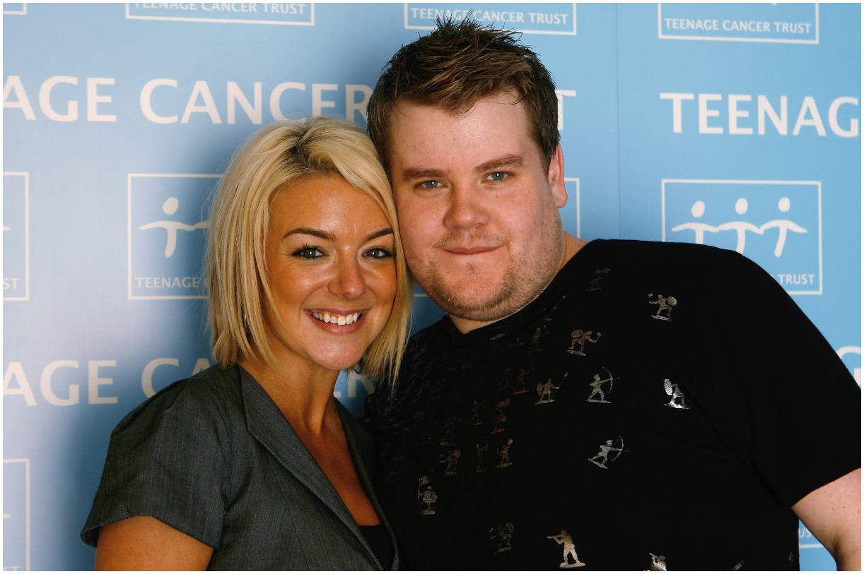 James Corden and his girlfriend Sheridan Smith