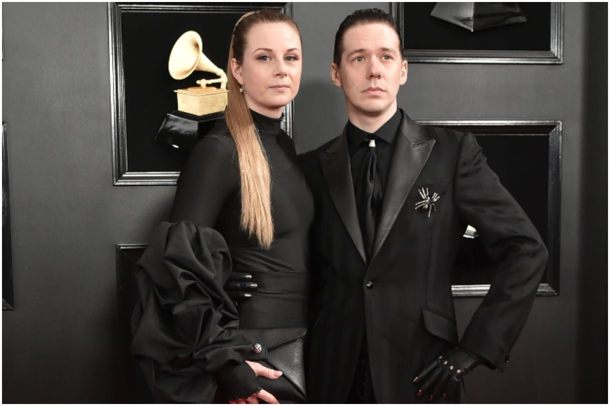 Tobias Forge with his wife Boel Forge