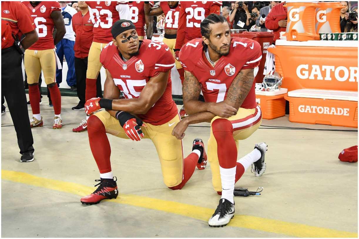 Colin Kaepernick protest kneeling