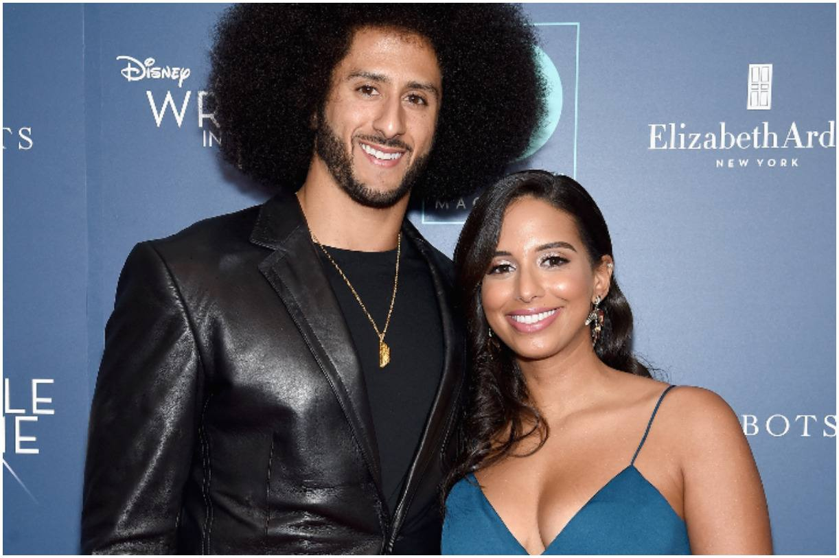 Colin Kaepernick with his girlfriend Nessa Diab
