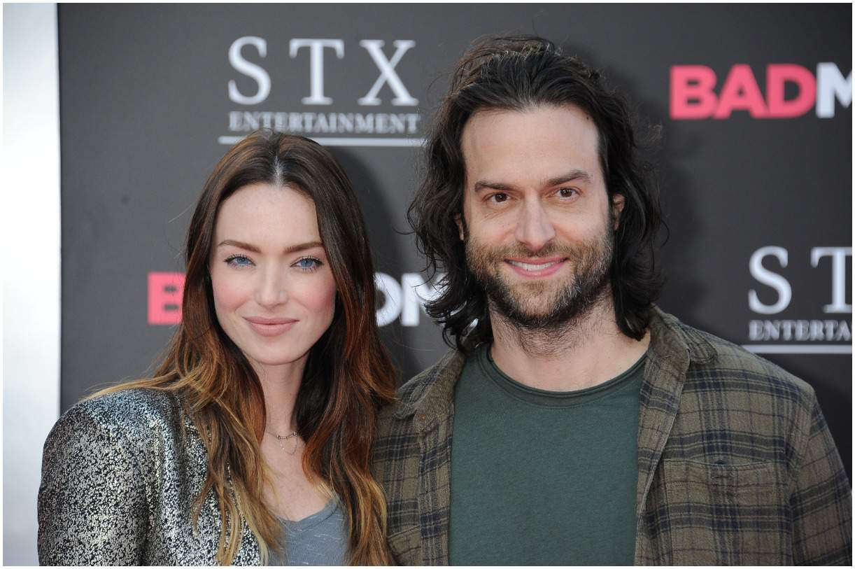 Emily Montague with her husband Chris DElia