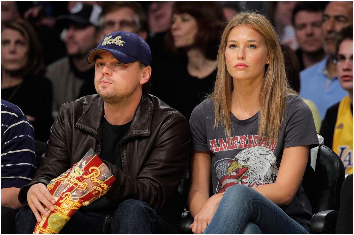 Leonardo DiCaprio and his girlfriend Bar Refaeli