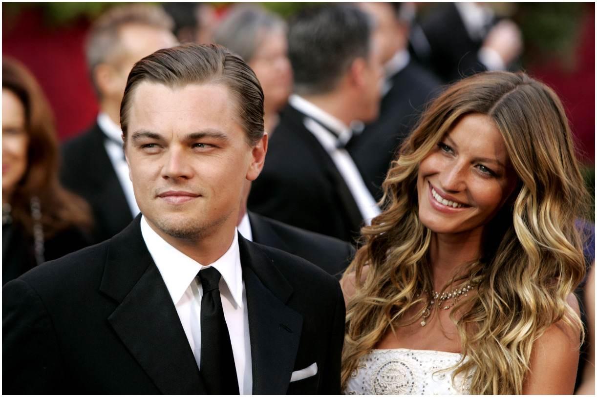 Leonardo DiCaprio with his girlfriend Gisele Bundchen