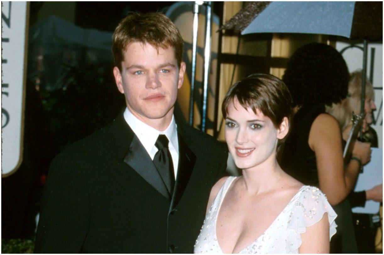 Matt Damon and his girlfriend Winona Ryder